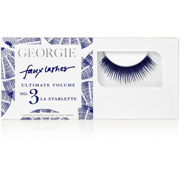 Georgie Beauty Georgie La Starlette Faux Lashes l ($12) ❤ liked on Polyvore featuring beauty products, makeup, eye makeup, false eyelashes, georgie beauty and black eye makeup