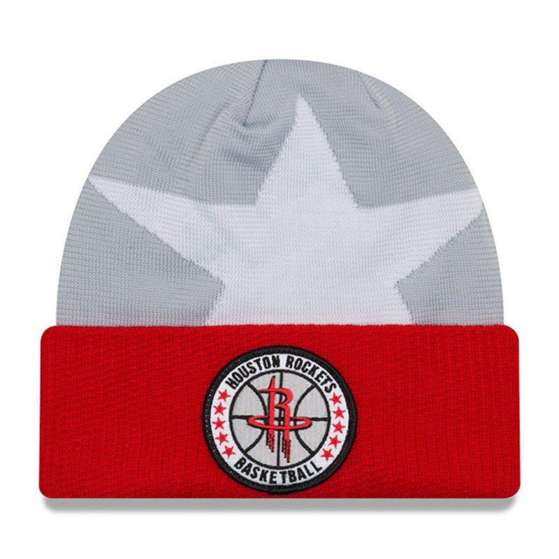 28b45119133 Houston Rockets New Era 2018 Tip Off Series Cuffed Knit Hat - Gray ...