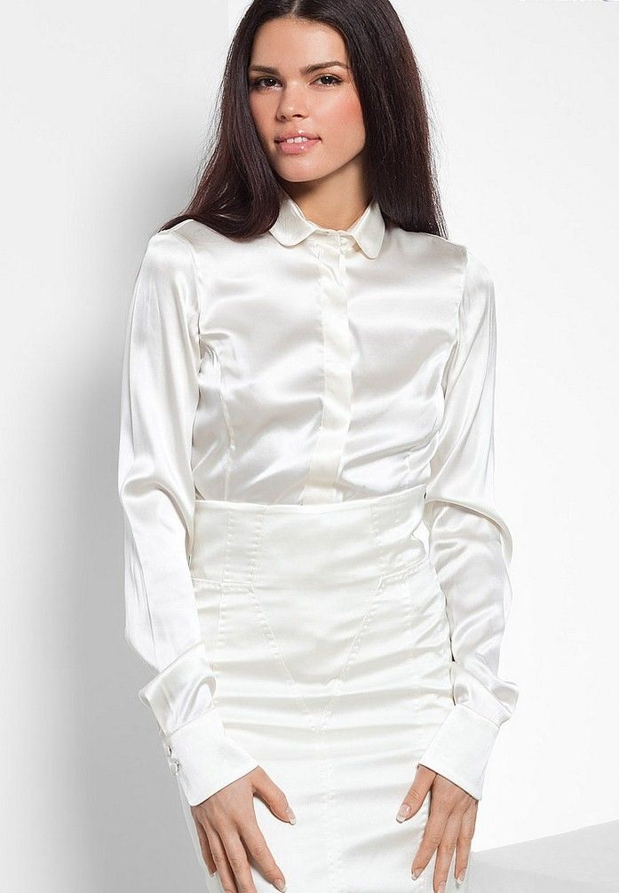 Satin Blouses: White Satin Blouses For Women