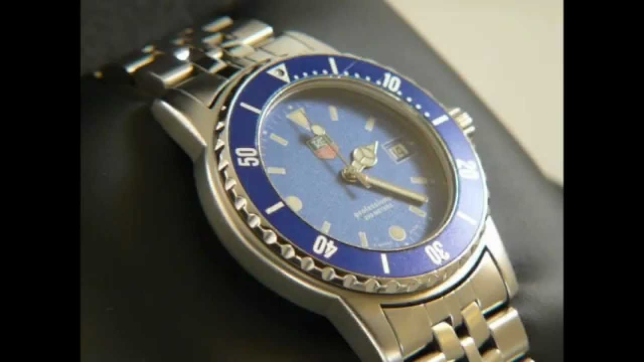 TAG Heuer 1500 Submariner Man Stainless steel with a Blue Dial WD1214-G-20