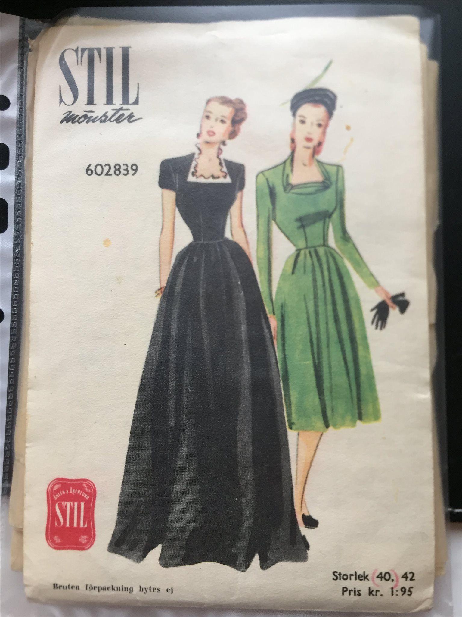 Vintage retro symönster 40 50 60 70 tal sy på
