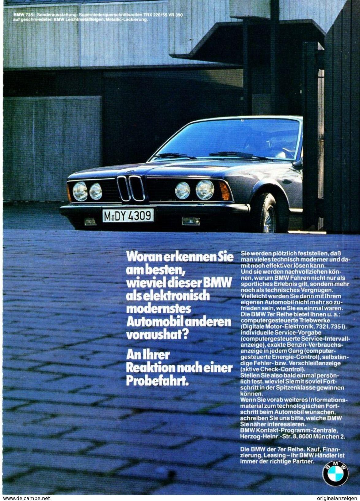 Original Werbung Anzeige 1981 7er Bmw Ca 180 X 240 Mm Werbung Bmw Automobil Werbung