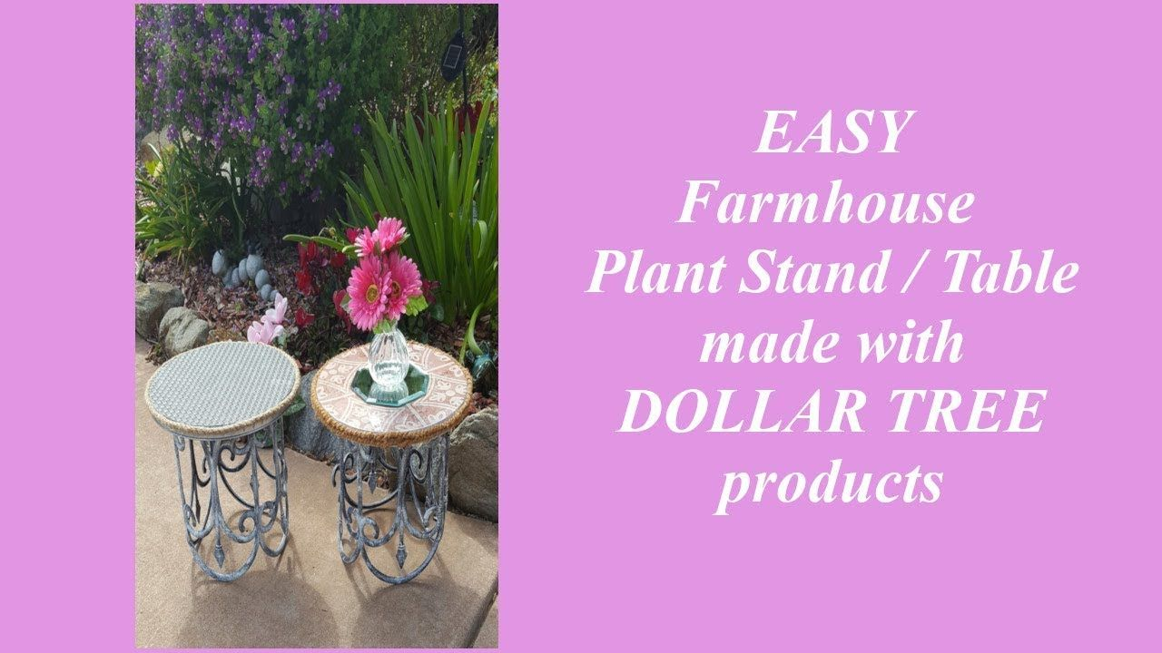Dollar tree farmhouse decor plant stand table youtube