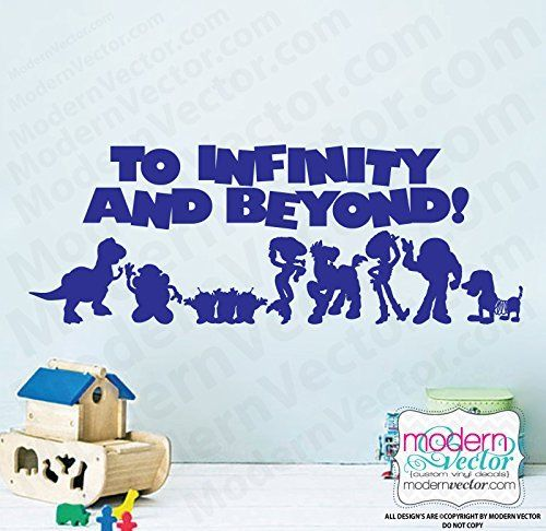 Toy Story Quote Vinyl Wall Decal Sticker Lettering To Infinity and Beyond! Playroom Art Room Nursery @ niftywarehouse.com #NiftyWarehouse #Toy #Story #Movie #ToyStory #Pixar