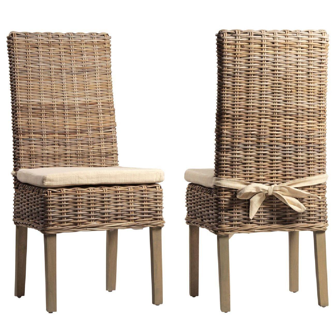 Dovetail Kubu Dining Chair Rattan Dining Chairs Dining Chairs Dining Chair Set