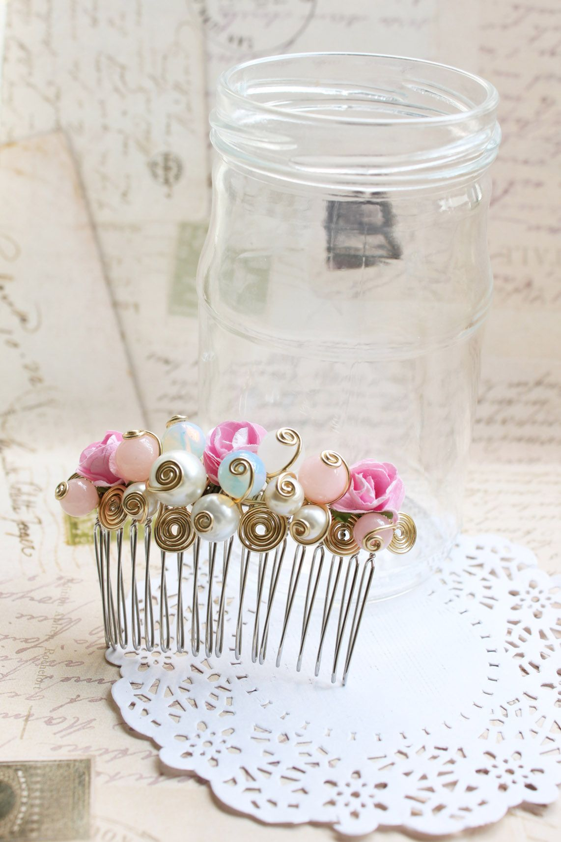 handmade pink hair accessories