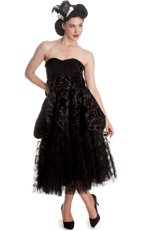 Victorian gothic wedding midnight ball black lace ruffled dress