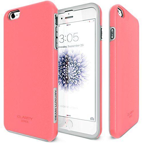 c990963c47 iPhone 6S Plus Case, Team Luxury Clarity Series Purple Ultra Defender  Protective Case for Apple iPhone 6 Plus / 6S Plus - Lavender/ Gray