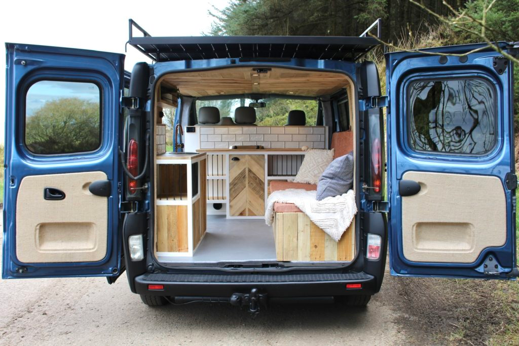 Photo of Amazing SWB Vivaro Camper  built with beautiful reclaimed woods & Roof Deck.