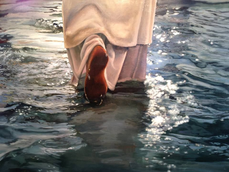 Image result for prophetic art walking on water