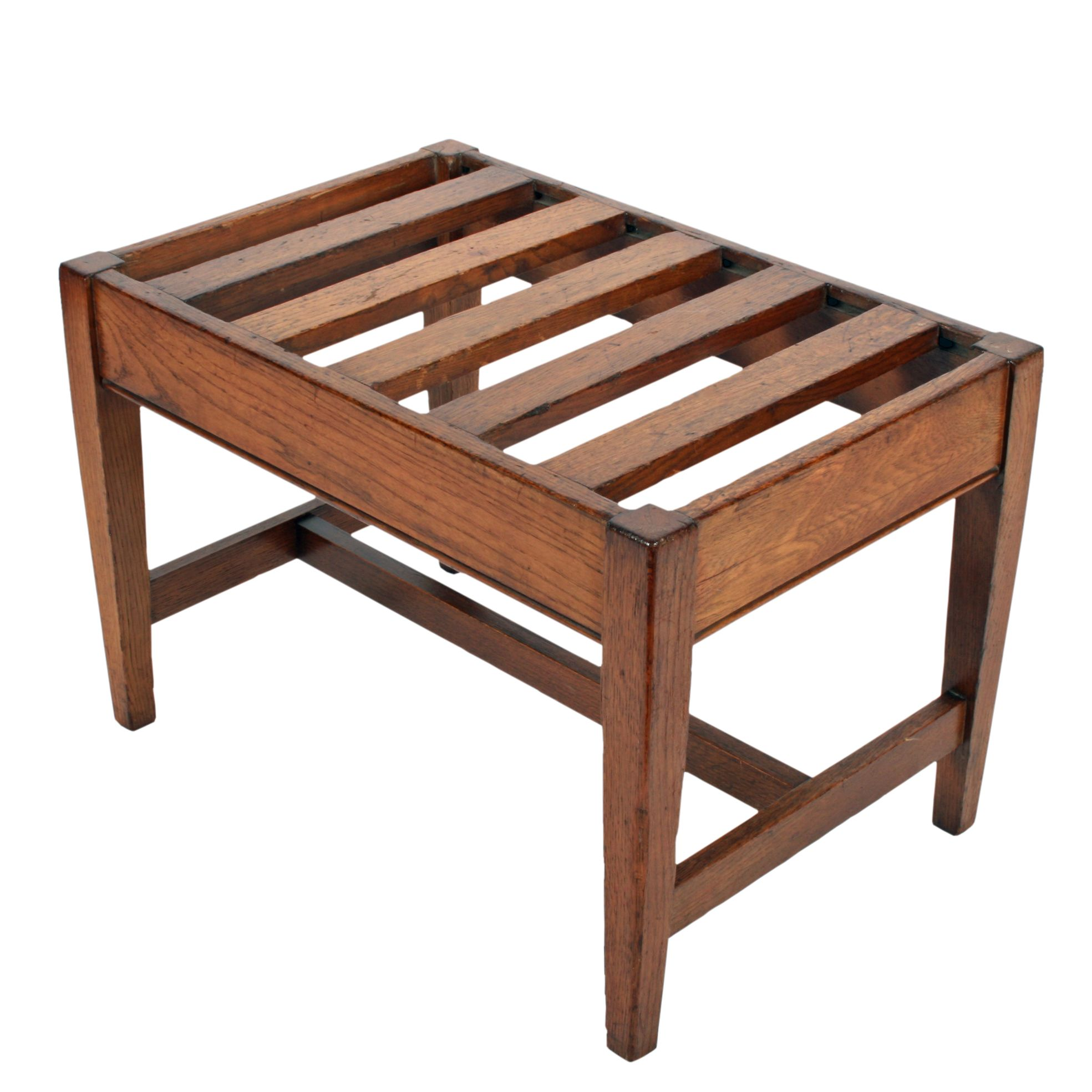 Edwardian Oak Luggage Rack | Antique Bedroom furniture and ...