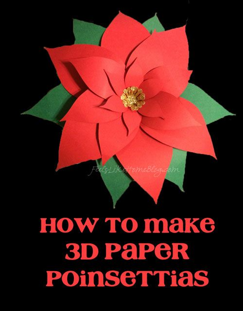 How To Make D Paper Poinsettias