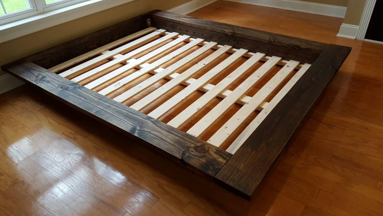 Floating Loft Bed Floating Platform Bed Wide Ledge Bed Loft Bed Low Profile Bed