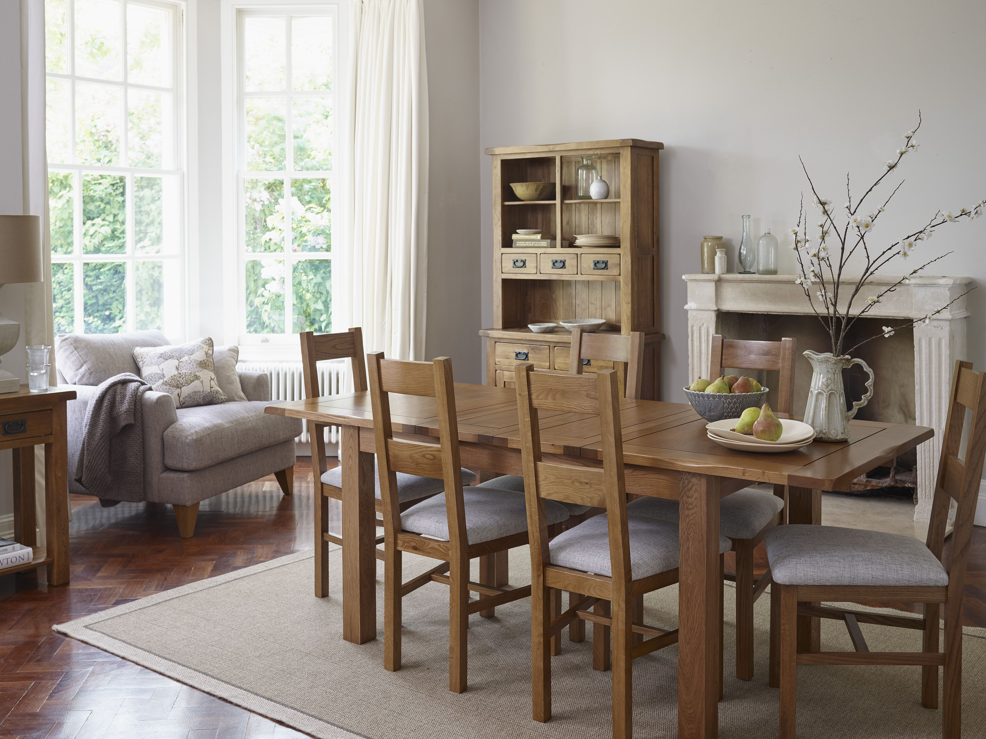 The Rushmere Rustic Solid Oak Extending Dining Set Is Perfect For Everyday  Family Meals To Extravagant