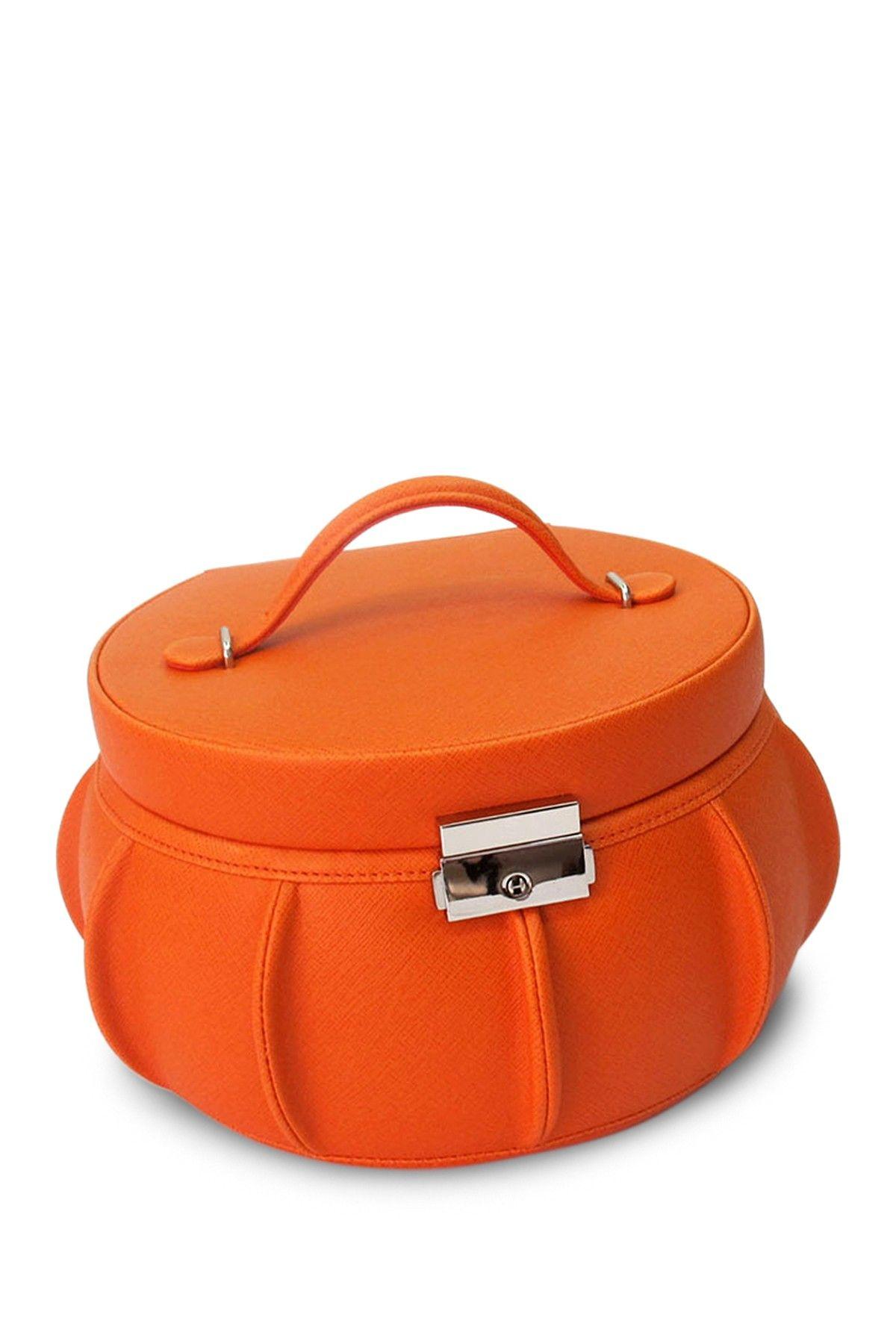 Allison Leather Orange Jewelry Box on @HauteLook