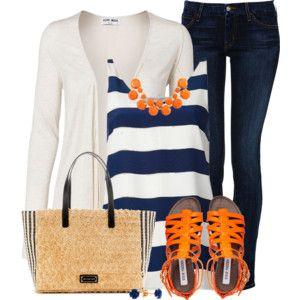 navy with orange accents -- supercute!