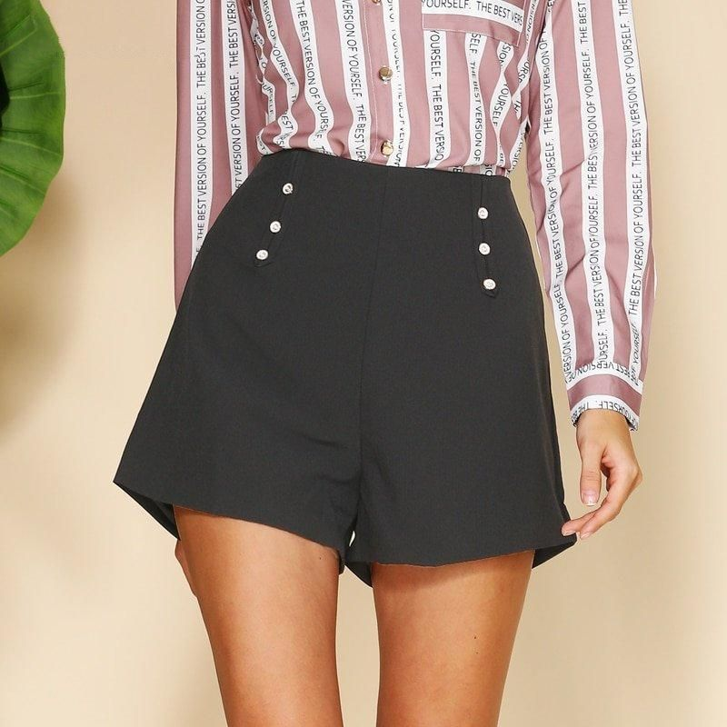 X-Future Womens Elastic Waist Solid Loose Fit Casual Wide Leg Belted Shorts