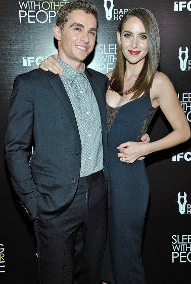 """Dave Franco supports fiancée Alison Brie at a Los Angeles screening of """"Sleeping with Other People"""" on Wednesday."""