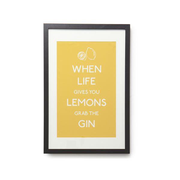 When life gives you lemons Framed Print 40x60cm