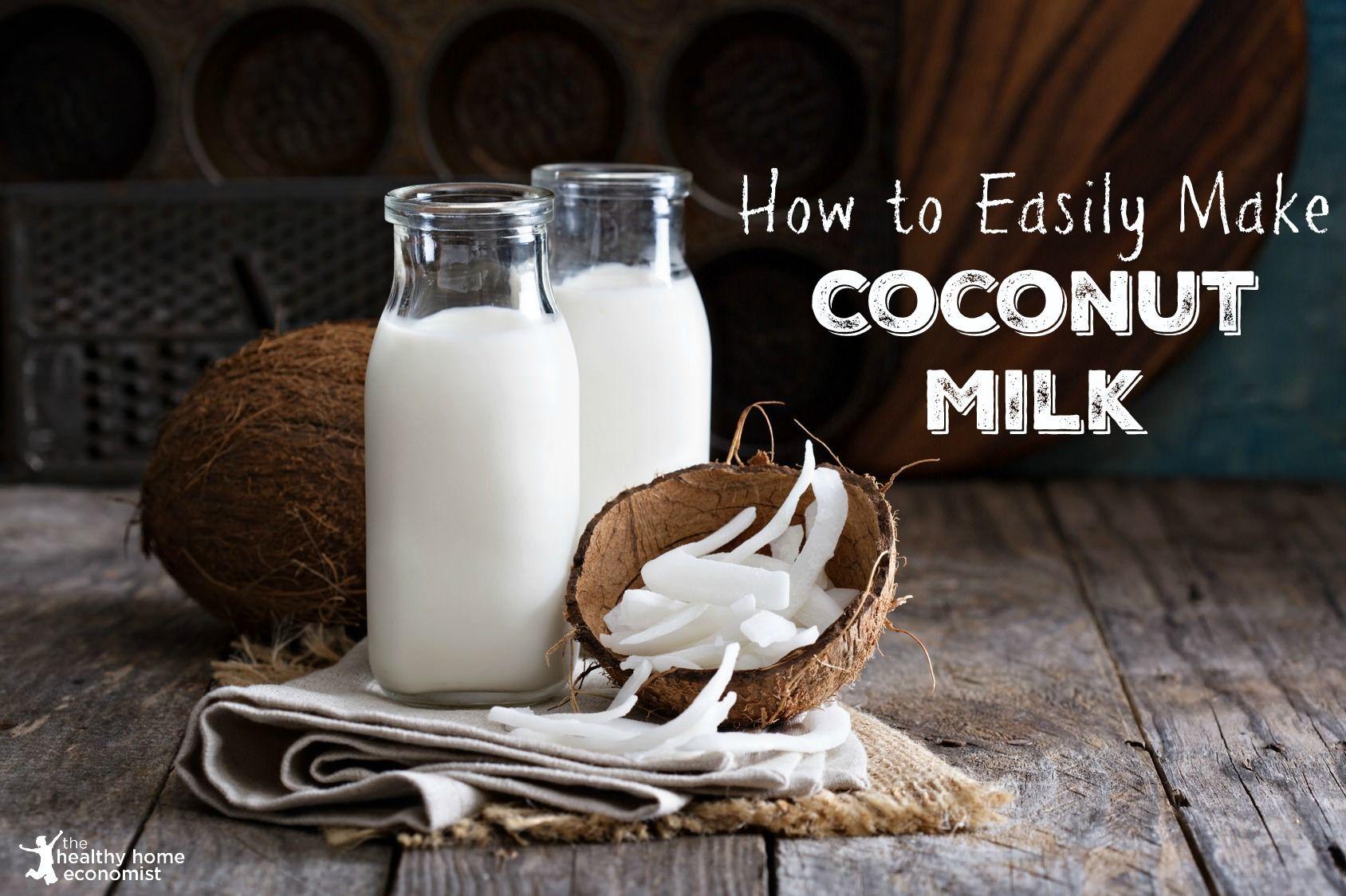 Homemade RAW Coconut Milk Recipe Make coconut milk