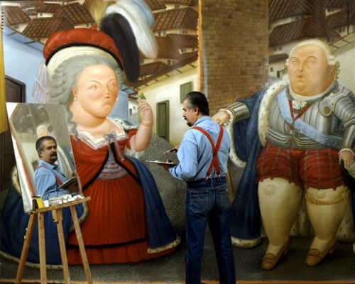 Fernando Botero in his atelier, Paris, 1990 -by Manuel Litran
