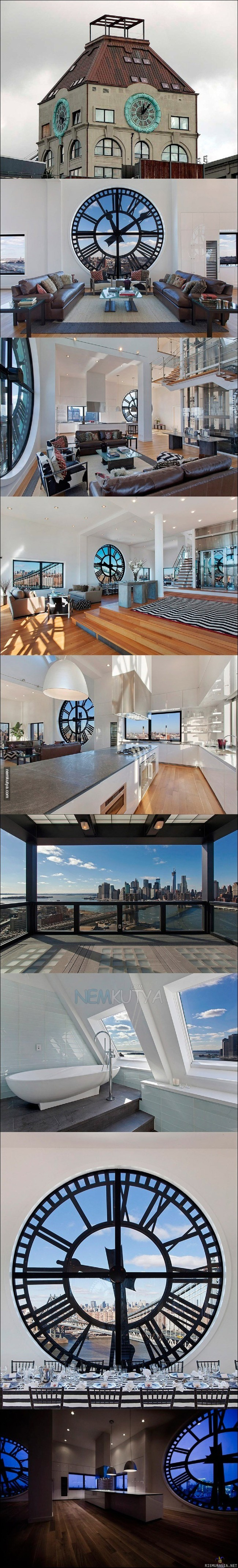 Insane penthouse in Brooklyn's clock tower for $18M. Maybe someday it's mine? :D