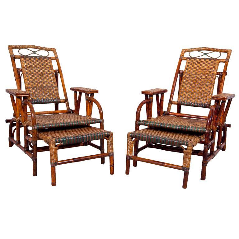 1stdibs antique rattan morris chairs morris chair