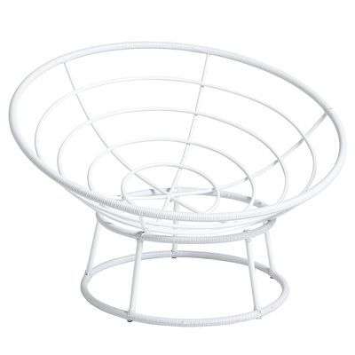 Papasan Chair Frame And Base Yaheetech Fishing Outdoor White 68 50 For 70 Teal Cushion 90 Fuzzy