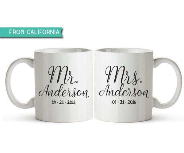 10 Off Special Personalized Mr Mrs Coffee Mugs And Wedding Custom Mug Husband Wife 1 By Savethedate