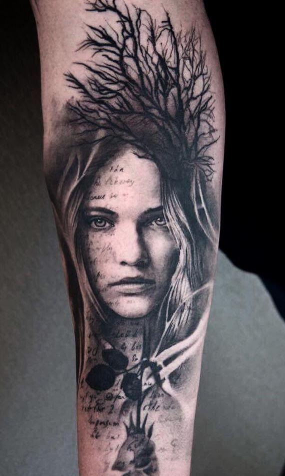 Awesome Portrait Tattoo Portrait Tattoos Fantasy Tattoos