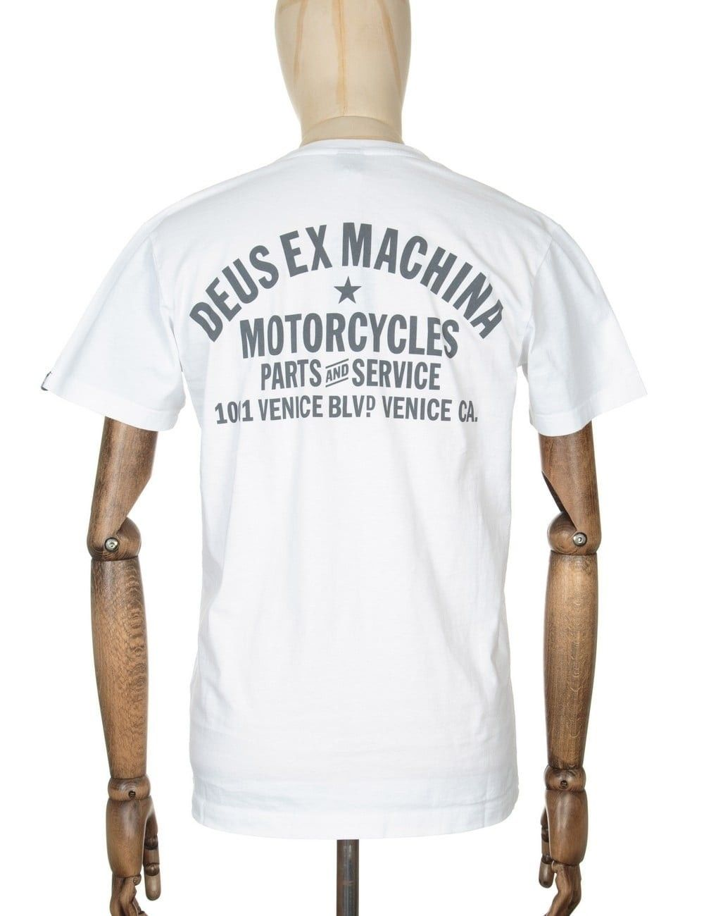 Deus Ex Machina Venice Address Mens T-shirt White All Sizes