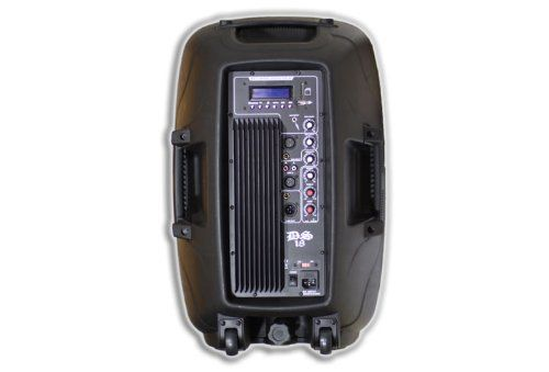 4bb3132237a476 DS18 DS-12M 12-Inch 1,400 Watts 2-Way Powered/Active Speaker Box with  MP3/USB/SD/EQ/Microphone and Wheels