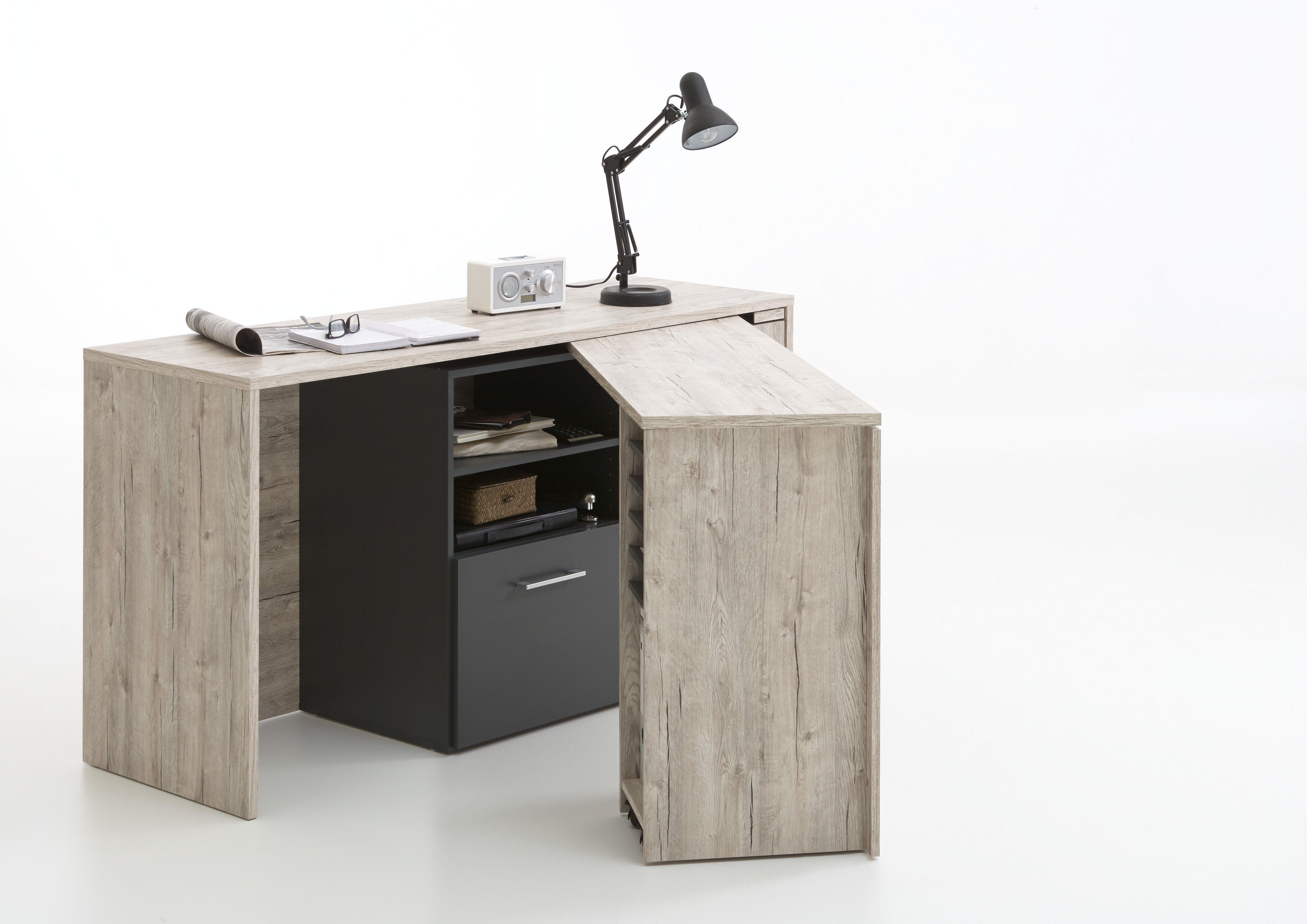 Bureau zito Étagère de rangement bibliothèque avec bureau cubique et 2