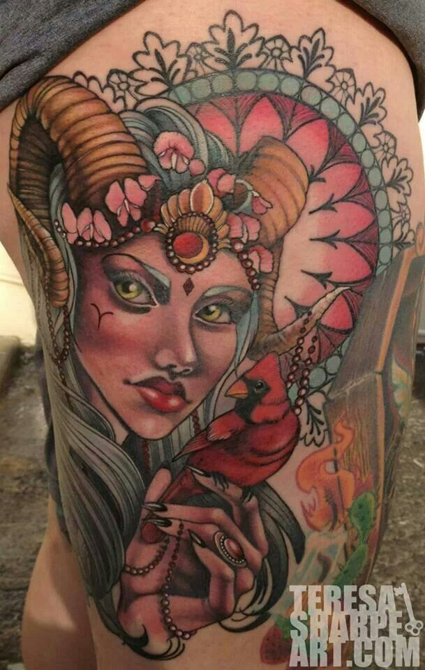 Beautiful Aries Tattoo Widder tattoos, Tätowierungen
