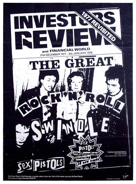 Sex Pistols Great Rock N Roll Swindle Poster Print New