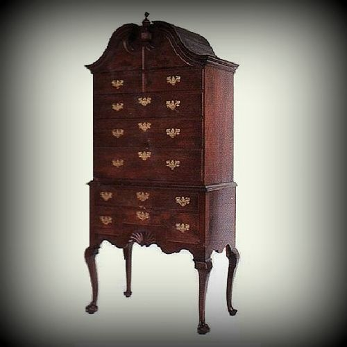 Queen Anne Highboy Solid Wood Furniture Handmade Custom Reproduction