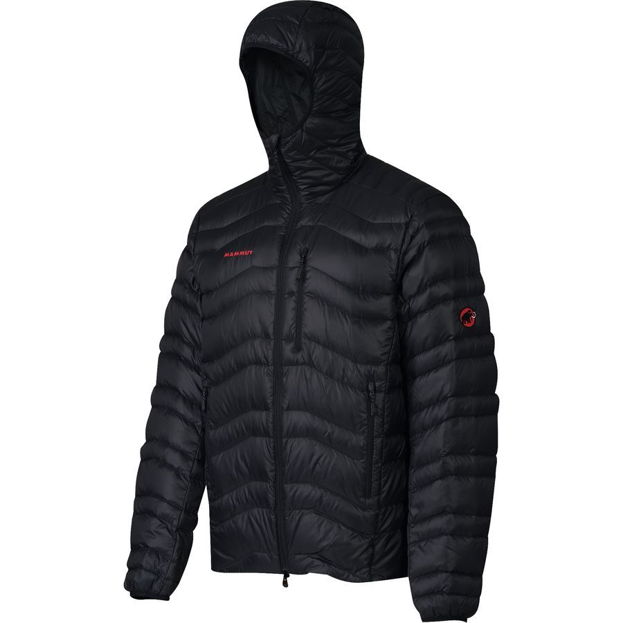 mammut mens broad peak insulated hooded jacket black on men s insulated coveralls with hood id=37489