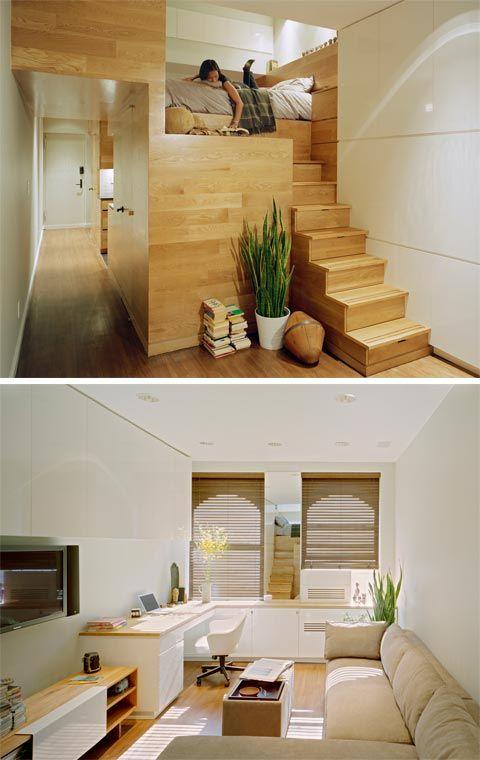 Small East Village Studio Tiny House Interior Design Small