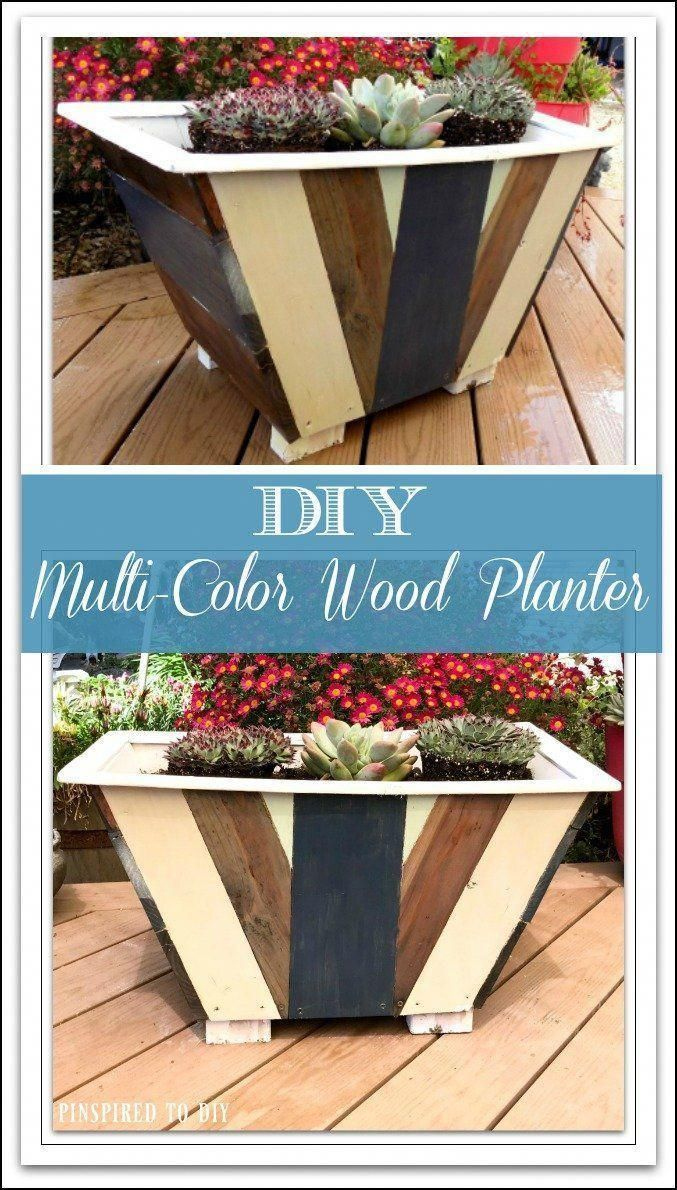 Free woodworking plans for building this diy multicolor planter
