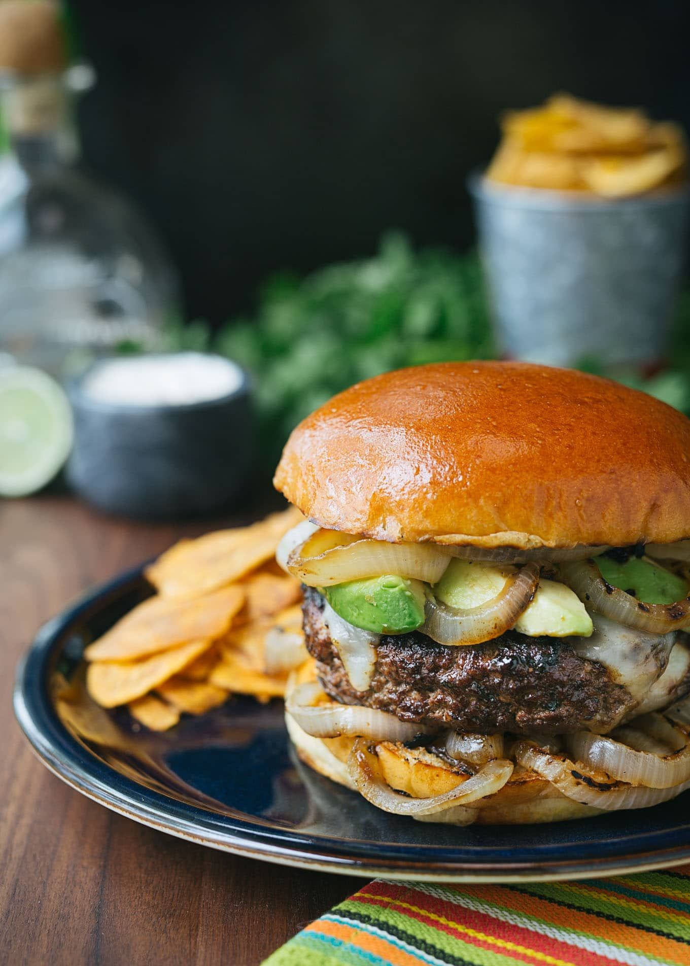 Mojo Beef Burgers With Tequila Lime Aioli Recipe Gourmet Burgers Beef Burgers Summer Grilling Recipes