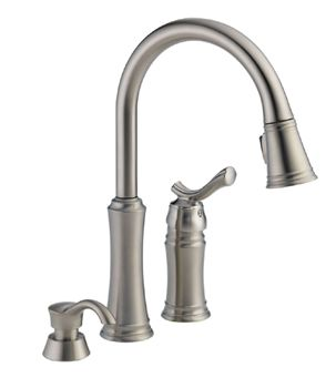 Delta 59963 Sssd Dst Lakeview Pull Down Kitchen Faucet With Soap