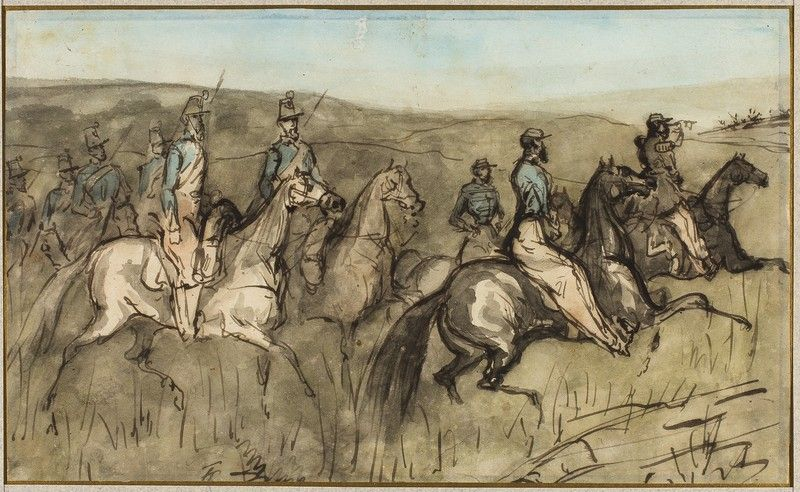 Cavalry Exercise In A Meadow Art Institute Of Chicago Art