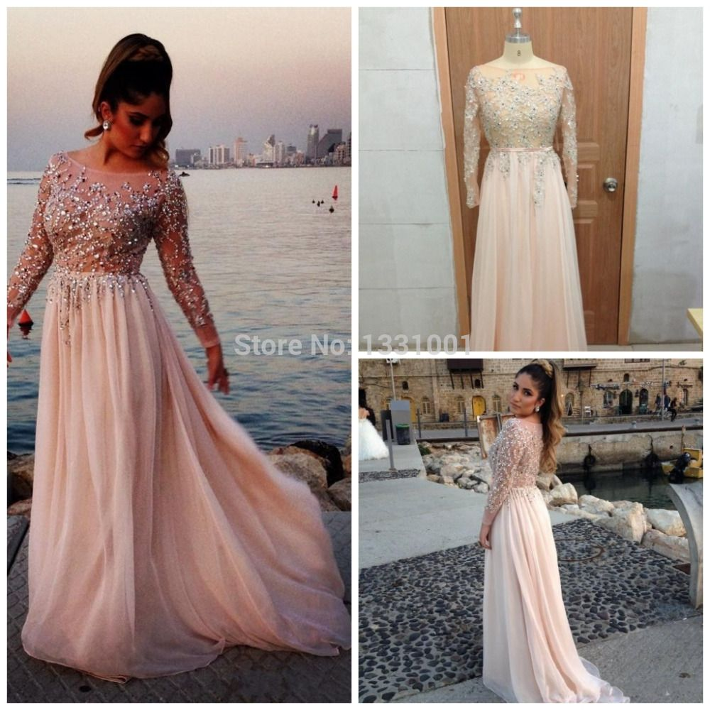 9df2161bdc4ac Vestidos Longo Plus Size Long Sleeve Prom Dresses Long Elegant Evening  Dresses For Pregnant Women 2015 New Fashion Party Dress-in Evening Dresses  from ...