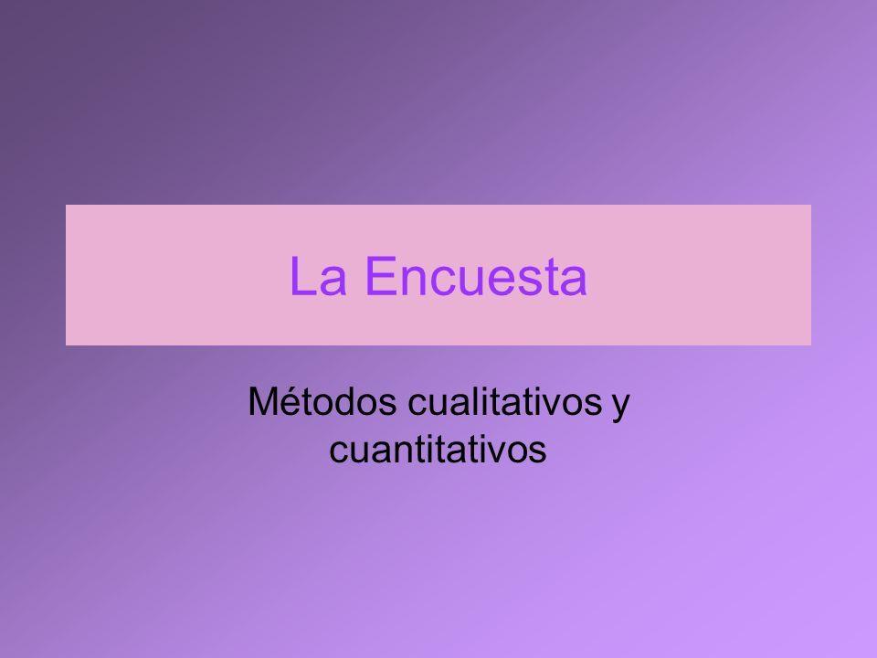 Característics y función de la encuesta.