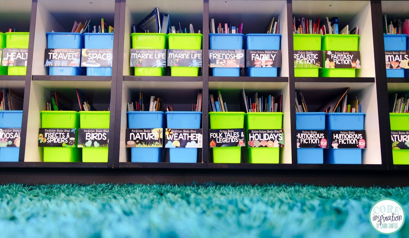 As promised in my Classroom Reveal post last week , I am here to give you a closer look at my classroom library. This cozy little corner of...