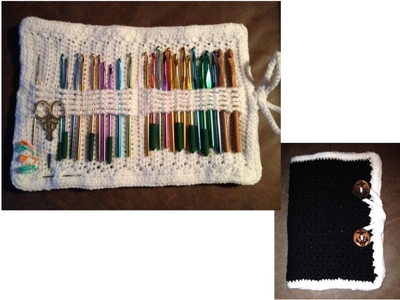 Crochet hook case.