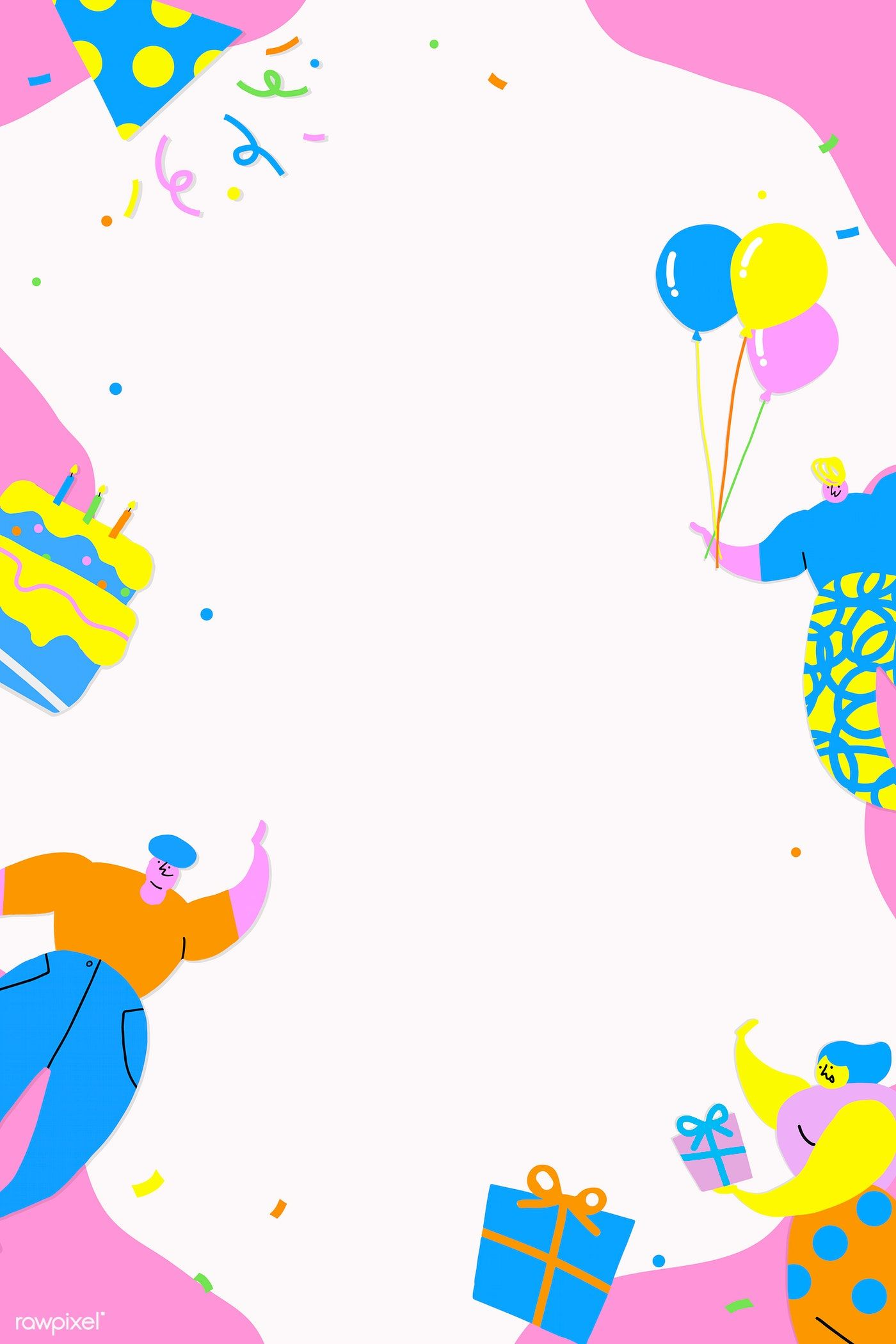 People Celebrating A Birthday Party Background Vector Free Image