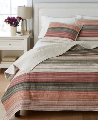 Martha Stewart Collection Desert Rock Reversible Quilt And Sham