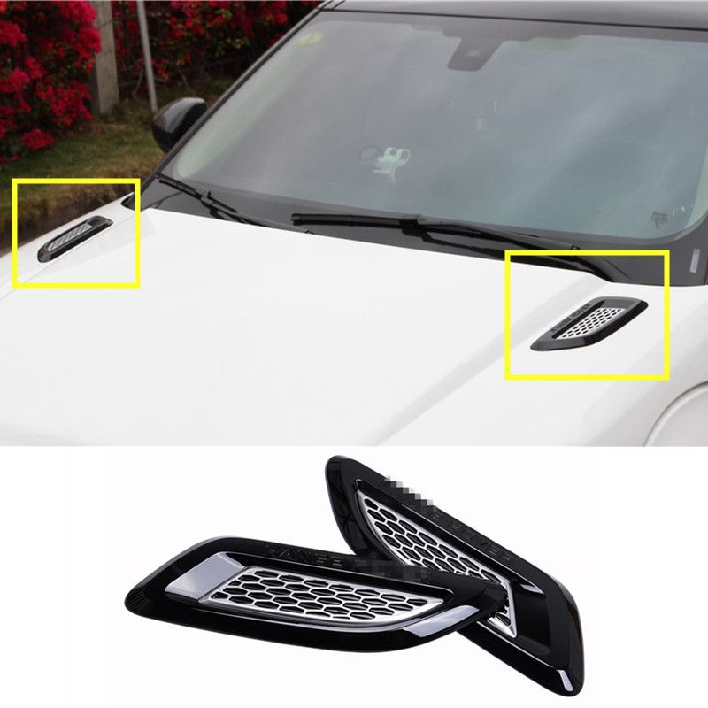 Exterior Hood Air Vent Outlet Wing Trim For Land Rover Range Rover Evoque  2012 2016