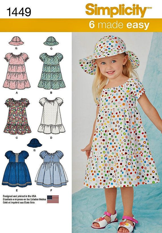044c1cc53 Sewing Pattern Toddler Dress Pattern, Baby Dress Pattern, Easy ...